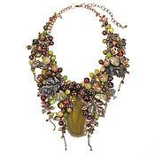 Украшения handmade. Livemaster - original item Necklace: agate, Jasper, tiger`s eye-natural stones, Maple Hops. Handmade.