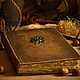 Книга ручной работы `Старинный мотив`. Бумага ручной работы из диких и полевых трав. Книги и блокноты ручной работы