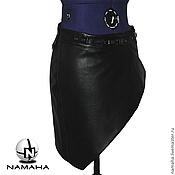 Юбки ручной работы. Ярмарка Мастеров - ручная работа Юбка из кожи Nappa, юбка мини, юбка пояс, юбка с запАхом. Handmade.