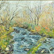 Картины и панно handmade. Livemaster - original item Oil painting landscape of North 50/70