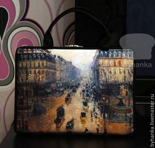 """Сумки для ноутбуков ручной работы. Ярмарка Мастеров - ручная работа. Купить Сумка для ноутбука  """"Оперный проезд в Париже"""". Handmade."""