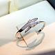 Кольца ручной работы. Ярмарка Мастеров - ручная работа. Купить Помолвочное кольцо с бриллиантом. Handmade. Золотой, серебро 925 пробы