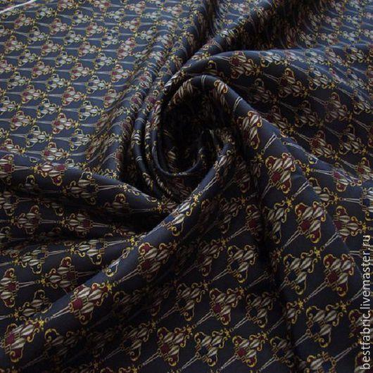 шелк твил сток HERMES  , Италия шелк 100% шир. 105 см , купон 95  цена 1020 р мелкий `галстучный`  рисунок, тонкий, непрозрачный, легкий, пластичный , матовый для платья, блузы или  подклада люкс