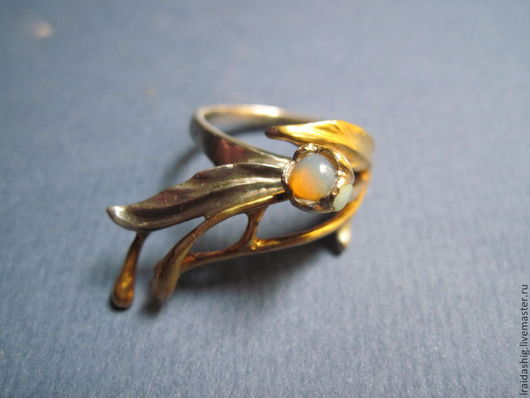 """Кольца ручной работы. Ярмарка Мастеров - ручная работа. Купить кольцо""""крокус"""". Handmade. Синий, кольцо с цветами, дизайнерские украшения"""
