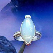 """Украшения ручной работы. Ярмарка Мастеров - ручная работа """"Туманы"""" голубой опал, серебро 925. Handmade."""