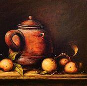 Картины и панно ручной работы. Ярмарка Мастеров - ручная работа Натюрморт с кувшином. Handmade.