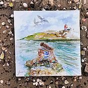 Картины и панно handmade. Livemaster - original item In love with the sea - watercolor paintings. Handmade.