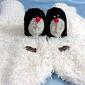 """Работы для детей, ручной работы. Ярмарка Мастеров - ручная работа Варежки развлекательные """"Пингвины"""". Handmade."""