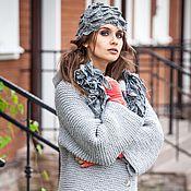 Одежда ручной работы. Ярмарка Мастеров - ручная работа V_025 Куртка-реглан прямая с рукавами 7/8, цвет  серый п. Handmade.