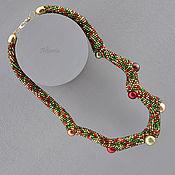 Necklace handmade. Livemaster - original item Martian Chronicles invasion. Karista. choker. Handmade.