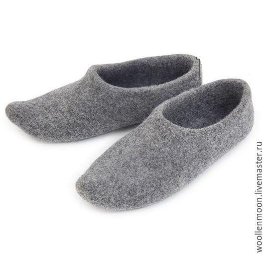Обувь ручной работы. Ярмарка Мастеров - ручная работа. Купить Войлчоные тапочки азиатсские. Handmade. Разноцветный, подарок, войлок