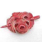 Украшения handmade. Livemaster - original item Clip the ring of Dawn (fibula, shawl pin, pink). Handmade.