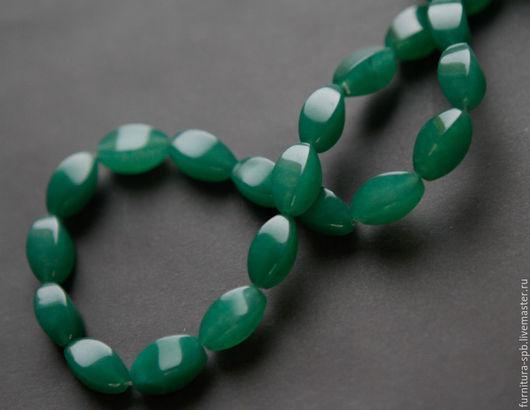 Для украшений ручной работы. Ярмарка Мастеров - ручная работа. Купить Авантюрин зеленый, огранка, бусины 8х16 мм. Handmade.