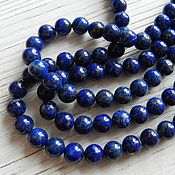Материалы для творчества handmade. Livemaster - original item Lapis lazuli natural smooth beads 8 mm (art. 2524). Handmade.