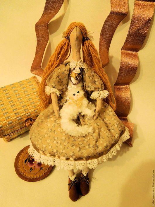 Куклы Тильды ручной работы. Ярмарка Мастеров - ручная работа. Купить Кукла в стиле Тильда:. Handmade. Бежевый, хлопок