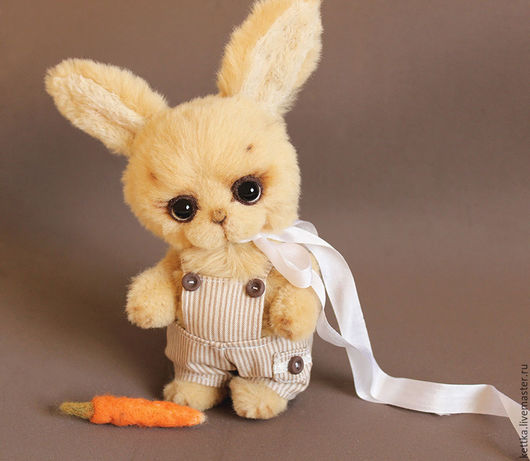 Мишки Тедди ручной работы. Ярмарка Мастеров - ручная работа. Купить Зайка Боня. Handmade. Бежевый, хлопок 100%