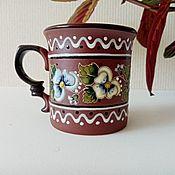 Посуда handmade. Livemaster - original item Mugs and cups: Pansy. Handmade.
