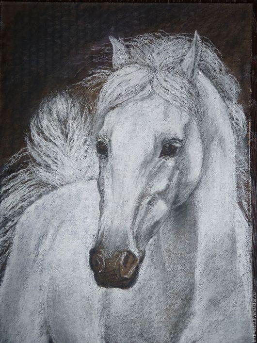 Животные ручной работы. Ярмарка Мастеров - ручная работа. Купить Белая лошадь. Handmade. Белый, черный, лошадь, белая лошадь