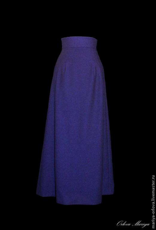 Юбки ручной работы. Ярмарка Мастеров - ручная работа. Купить Юбка. Handmade. Тёмно-синий, юбка в пол, юбка синяя