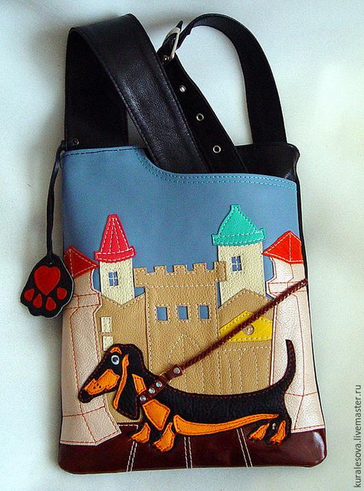 """Женские сумки ручной работы. Ярмарка Мастеров - ручная работа. Купить Кожаная сумка """"кроссбоди"""". Handmade. Черный, женские сумки"""