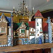 """Для дома и интерьера ручной работы. Ярмарка Мастеров - ручная работа Зеркало """"Баварская улочка"""". Handmade."""