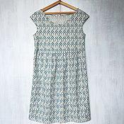 Одежда ручной работы. Ярмарка Мастеров - ручная работа Платье из набивного льна. Handmade.