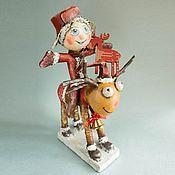 """Куклы и пупсы ручной работы. Ярмарка Мастеров - ручная работа Коллекционная кукла из папье-маше """"Маленький Дед Мороз"""". Handmade."""