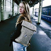 Сумки и аксессуары ручной работы. Ярмарка Мастеров - ручная работа лаконичный городской рюкзак из войлока. Handmade.