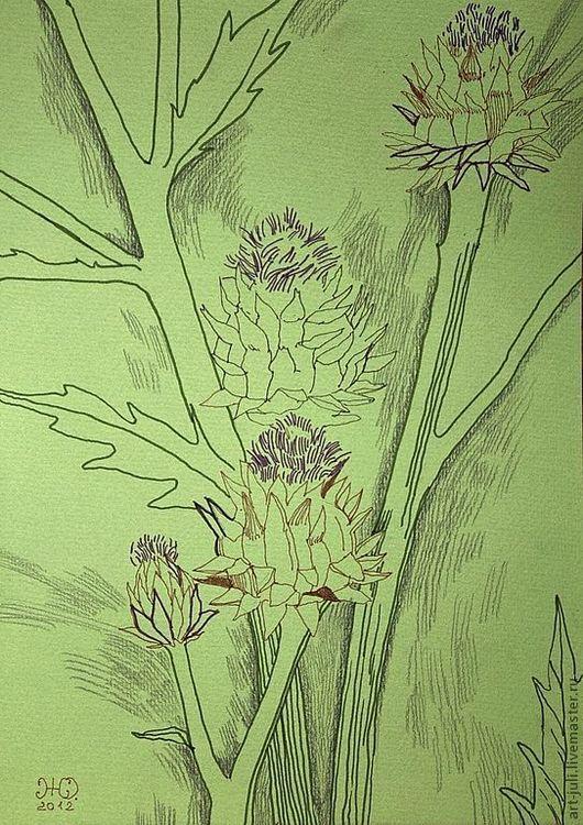 Картины цветов ручной работы. Ярмарка Мастеров - ручная работа. Купить рисунок Такой цветок резерв. Handmade. Картина в офис