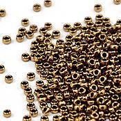 Бисер ручной работы. Ярмарка Мастеров - ручная работа Круглый 15/0 Miyuki 457 бронзовый Японский бисер Миюки. Handmade.