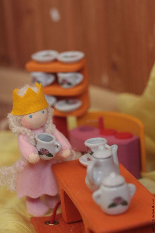 Вальдорфская кукла ручной работы. Принцесска 12 см. SolarDolls, (Julia Solarrain)