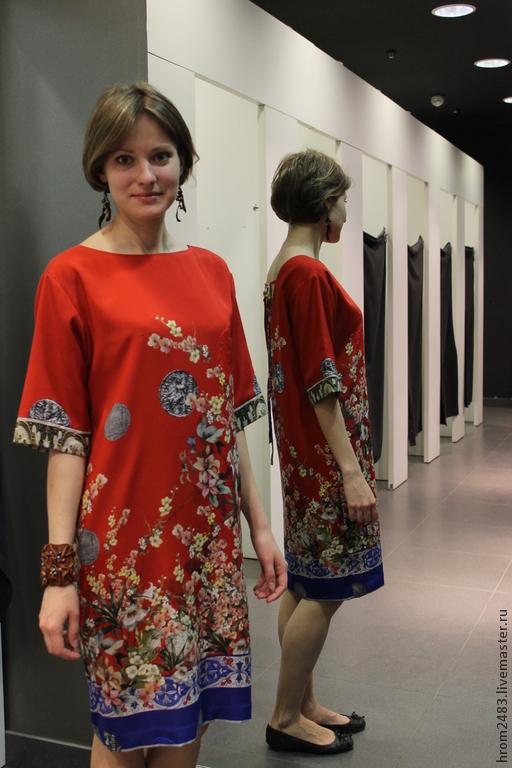 a831c6236bb Платья ручной работы. Ярмарка Мастеров - ручная работа. Купить Платье из  шелка Dolce Gabbana ...