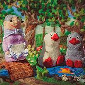 Куклы и игрушки ручной работы. Ярмарка Мастеров - ручная работа пальчиковый театр Два веселых гуся. Handmade.