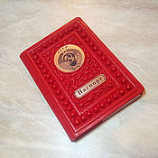 """Канцелярские товары handmade. Livemaster - original item Обложка на паспорт """"Ваша светлость"""" из цветной натуральной кожи. Handmade."""