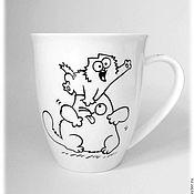 """Кружки ручной работы. Ярмарка Мастеров - ручная работа Кружка """"Кот Саймона. Испытание котёнком"""" (посуда, фарфор). Handmade."""