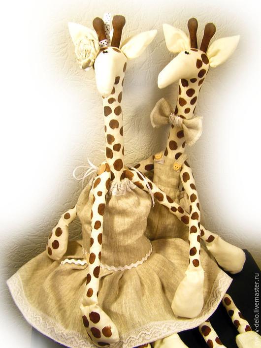 Игрушки животные, ручной работы. Ярмарка Мастеров - ручная работа. Купить жирафы нежные. Handmade. Жираф, кукла жирафик, жираф