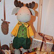 Куклы и игрушки ручной работы. Ярмарка Мастеров - ручная работа Новогодний лосик. Handmade.