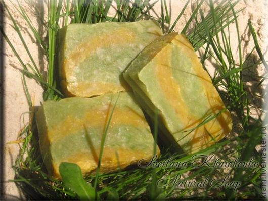 Мыло ручной работы. Ярмарка Мастеров - ручная работа. Купить Мыло с нуля Абориген, на отваре трав, с желтой и зеленой глинами. Handmade.