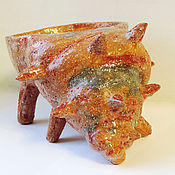 Для дома и интерьера ручной работы. Ярмарка Мастеров - ручная работа Чаша керамическая Раковина Турбо. Handmade.