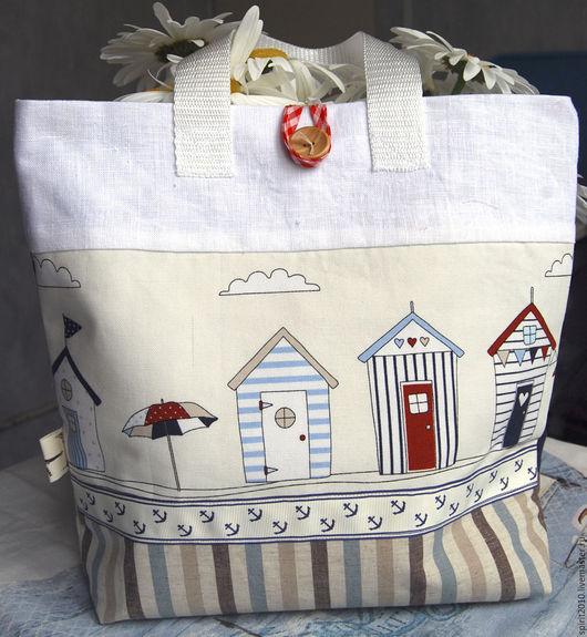 Женские сумки ручной работы. Ярмарка Мастеров - ручная работа. Купить Сумка в морском стиле. Handmade. Рисунок, пляж