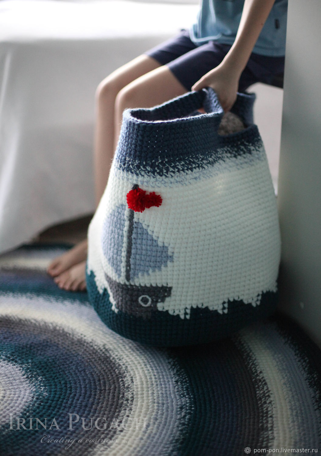 Knitted toy In the sea by the waves, Basket, Volgograd,  Фото №1
