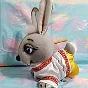 Куклы и игрушки handmade. Livemaster - original item Bunny. Theatrical tablet doll.. Handmade.