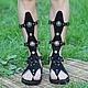 gladiators of rome on the male leg