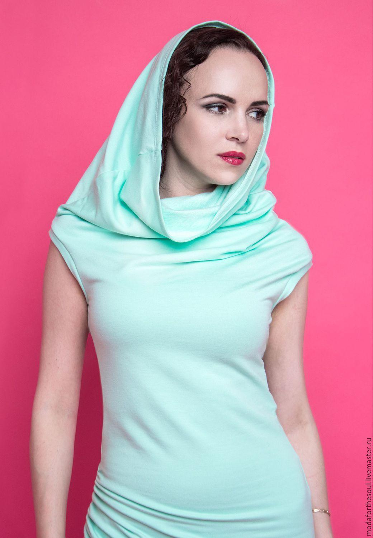 Воротник-капюшон на платье