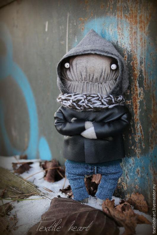 Куклы и игрушки ручной работы. Ярмарка Мастеров - ручная работа. Купить Larry.... Handmade. Темно-серый, милый, чердачный монстр