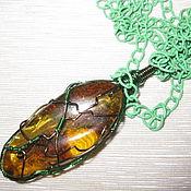 Украшения handmade. Livemaster - original item Pendant made of amber