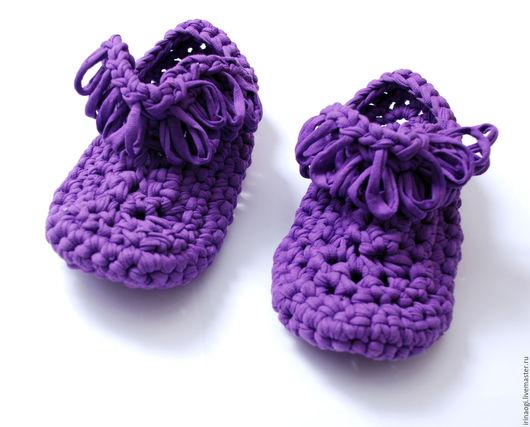 Обувь ручной работы. Ярмарка Мастеров - ручная работа. Купить тапочки из трикотажной пряжи. Handmade. Тапочки ручной работы