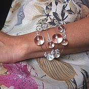 Bead bracelet handmade. Livemaster - original item Silver bracelet Space, rhinestone. Handmade.