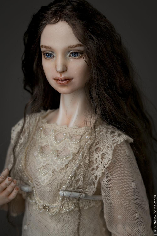 Коллекционные куклы ручной работы. Ярмарка Мастеров - ручная работа. Купить Елизавета шарнирная кукла из фарора. Handmade. Белый, шарнирка