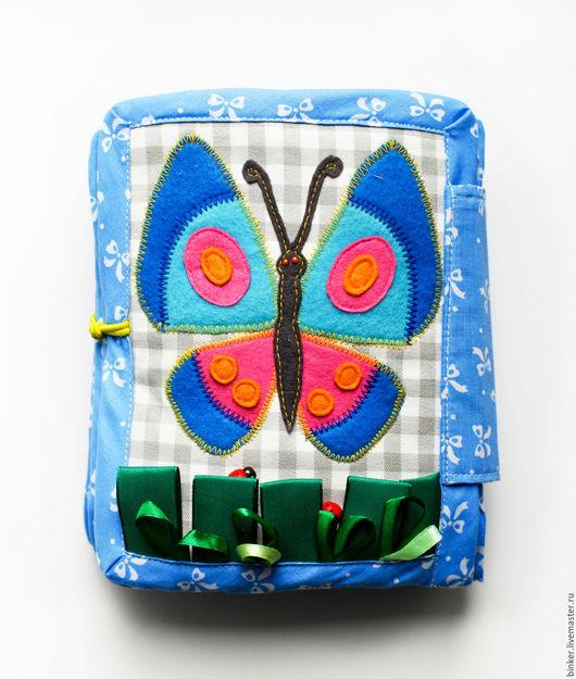 Развивающие игрушки ручной работы. Ярмарка Мастеров - ручная работа. Купить Бабочка (развивающая книжка). Handmade. Развивающая игрушка, книжка